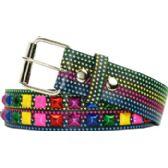 60 Units of Adult Unisex Colorful Studded Belt - Uni Sex Fashion Belts