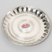 48 Units of 10 Inch Wide Stainless Steel Round Plate - Serving Platters