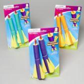 72 Units of Finger Shooter Foam Flyer 2pk Orange/blue/green Gov Logo Tie-on Card - Summer Toys