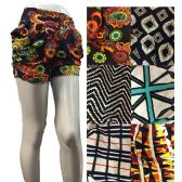 24 Units of Flexible Loose Fitting Short Pants with Pockets - Womens Shorts