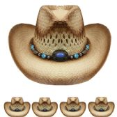 24 Units of BROWN COLOR COWBOY HAT - Cowboy & Boonie Hat