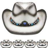 24 Units of Black and White Cowboy Hat - Cowboy & Boonie Hat