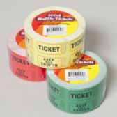 48 Units of 500 Count 2x2 Inch Raffle Ticket