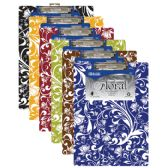 48 Units of Standard Size Floral Paperboard Clipboard w/ Low Profile Clip - Clipboards and Binders