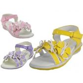 24 Units of Toddlers 3 Flower Top Sandals. - Toddler Footwear