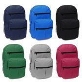 24 Units of 18 Inch Assorted Color Backpack With Many Pockets