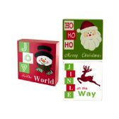18 Units of Holiday Theme Wood Block Sign - Home Decor