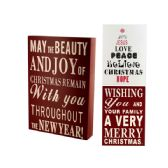 18 Units of Wood Block Christmas Sign - Home Decor