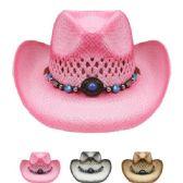 24 Units of Assorted Color Cowboy Hats - Cowboy & Boonie Hat