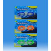 144 Units of KIDS SINGLE GOGGLE IN BLISTER CARD - Summer Toys
