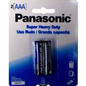 144 Units of PANASONIC AAA-2pk Heavy Duty Battery