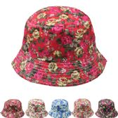 24 Units of Floral Sun Hat Assorted Color - Sun Hats