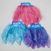 36 Units of Fairy Dress-up Skirt Satin/tulle Pink/blue/purple Tie-on Card - Costume Accessories