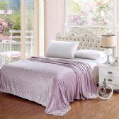 12 Units of 100% Polyester Blankets Lavender Color - Blankets & Bedding