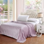 12 Units of The Premium Collection 100% Polyester Full Size Blankets Lavender - Bedding Sets
