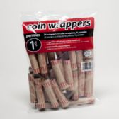 100 Units of Coin Wrappers - Penny 36 Count Coin Tubes - Coin Holders/Banks/Counter
