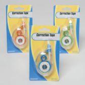 72 Units of Correction Tape 3ast Colors 26ft Tape Length Stat Blister Green/blue/orange