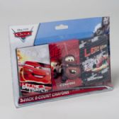 96 Units of Crayons 3 Pk 8 Ct Carded Disney Cars