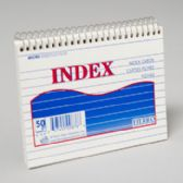 96 Units of Index Cards 6x4 Inch Coiled 50 Ct Ruled