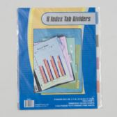 108 Units of Index Tab Dividers 8ct Transparent Colors 3 Hole Punch Stationary Insert