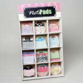 72 Units of Notepads Purse Shaped W/diecut Handle 60sht 6ast 72pc Sidekick Display Shirnk W/label