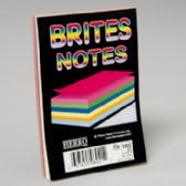 96 Units of Notes Pad 4x6 Inch 3 Asstd Colours 180 Ct 5/16 Inch Ruled - Sticky Note/Notepads