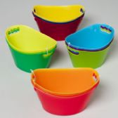 48 Units of Oval Tub 3pk Mini/3ast Color Combos 6.5 X 4.125 X 3.125in Tied W/upc Label