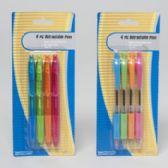 48 Units of 4pk Retractable Ballpoint Pen in 3asst Styles