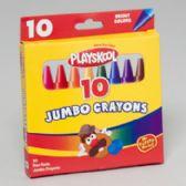 96 Units of Playskool Crayons 10 Ct Jumbo Peggable Box - Chalk,Chalkboards,Crayons
