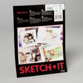 96 Units of Sketch It Bright White Drawing Paper 9x12 Inch 24 Ct Glued Pad For Use W/pencil,charcoal,crayo - Paper