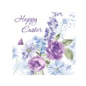 144 Units of Happy Easter Lilacs Lunch Napkins - Easter
