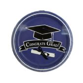 72 Units of Congrats Grad Purple Party Plates - Party Tableware