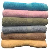 48 Units of 25x50 Solid Terry Bath Towel Assts 8.5lb - Towels