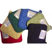 144 Units of 2Pk 8x8 Cotton Solid Pot Holder Woven -assts - Oven Mits & Pot Holders
