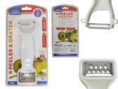 144 Units of 2-In-1 White Vegetable Peeler & Grater - Kitchen