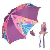 12 Units of Disney Princess Girl's Purple Princess Handle Umbrella - Umbrellas & Rain Gear