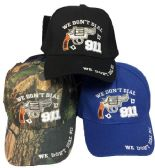 24 Units of We Don't Dial 911 Baseball Cap/ Hat - Baseball Caps/Snap Backs