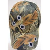 24 Units of Camo Ball Cap/ adjustable baseball hat *Bullet Holes - Hunting Caps