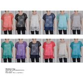 72 Units of Womens Fashion Patterned Tops Assorted Colors And Sizes - Womens Fashion Tops