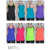 72 Units of Womens Fashion Sports Tank Assorted Colors And Sizes - Womens Active Wear