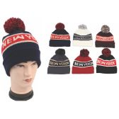 72 Units of Men's New York Pom Pom Beanie Hat