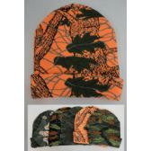 12 Units of Knitted Toboggan [Assorted Hardwoods Camo]