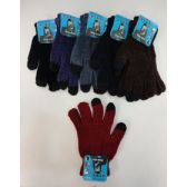 24 Units of Ladies Chenille Touch Screen Gloves - Conductive Texting Gloves
