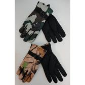 12 Units of Men's Camo Ski Gloves - Ski Gloves