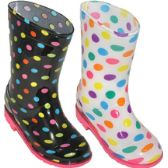 24 Units of Girl's Rain Boot Assorted 2 Styles - Girls Boots