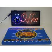 3 Units of Light Up Sign-COFFEE