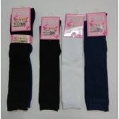 72 Units of 15 Inch Kids Knee High Socks Size 6-8 Assorted Solid Colors - Girls Knee Highs