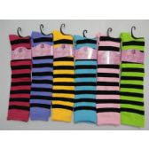 "12 Units of 12"" Knee High Socks-Stripes - Girls Knee Highs"