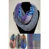 12 Units of Extra-Wide Light Weight Infinity Scarf [Mixed Chevron] - Womens Fashion Scarves