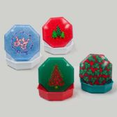96 Units of Cake Container W/lid Christmas Assorted Design - Seasonal Items